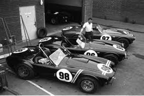 Carroll Shelby and Cobras - Black & White